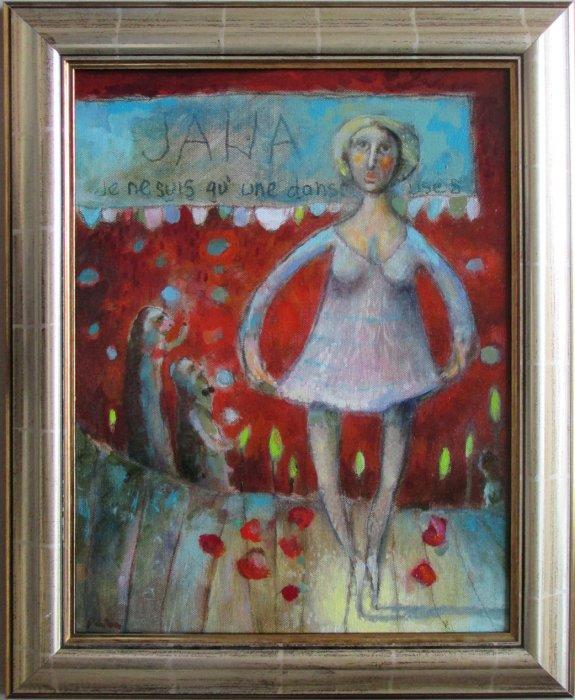 balerina,40x32cm, ulje na platnu, 350€