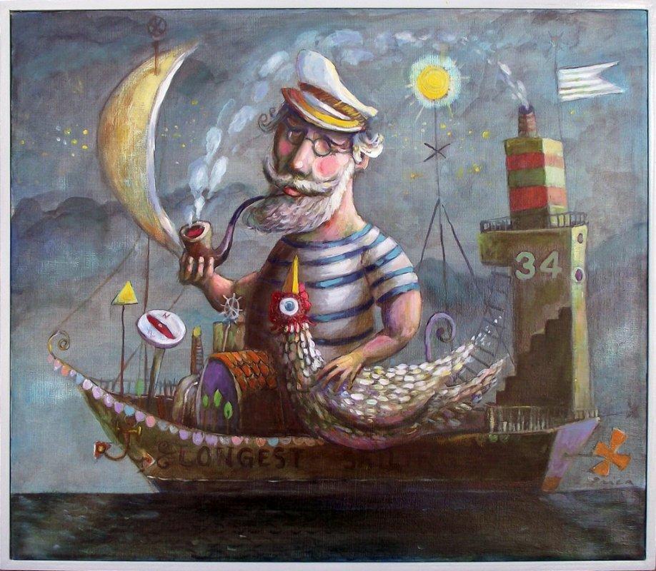kapetan najduze plovidbe,ulje na platnu