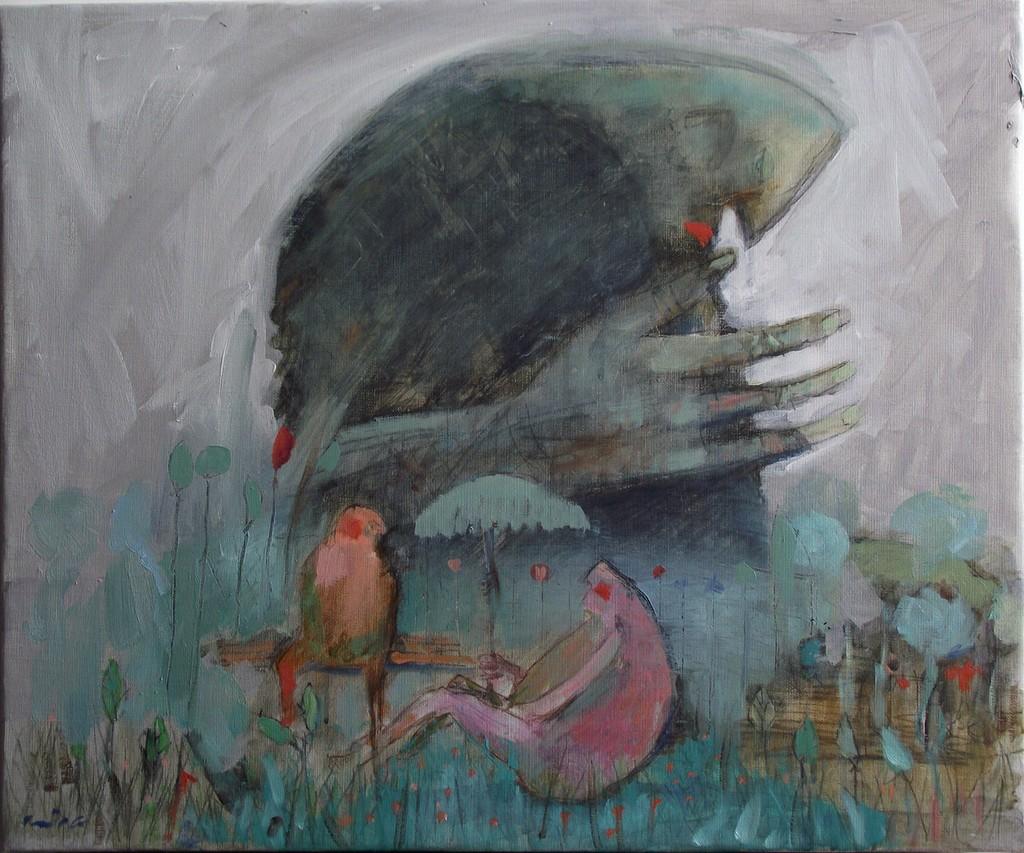 parkovsko čudovište,  55x46 cm, ulje na platnu,prodato