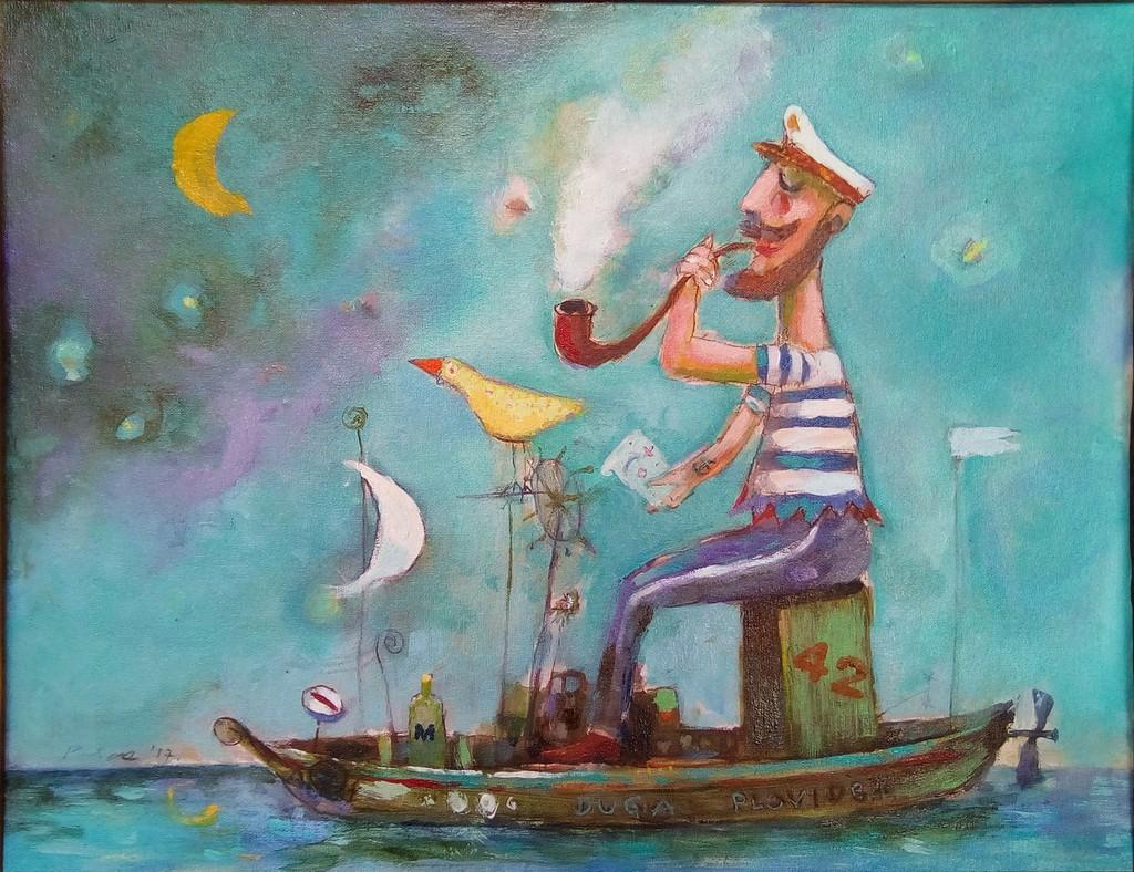 kapetan duge plovidbe,ulje na platnu