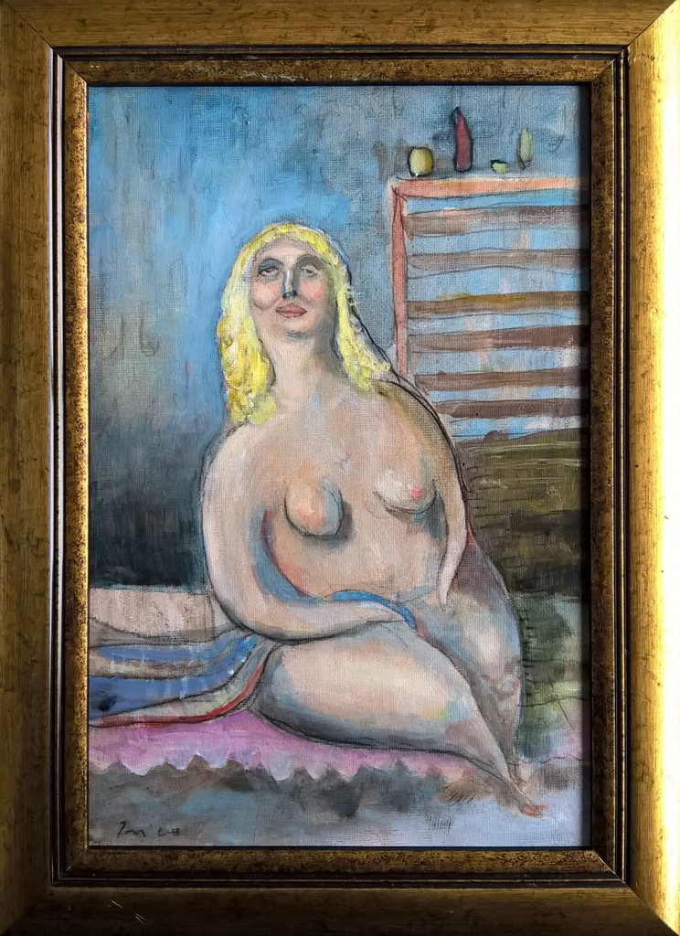 prilično lažljiva gospođica, 20x30 cm, ulje na platnu, 150€