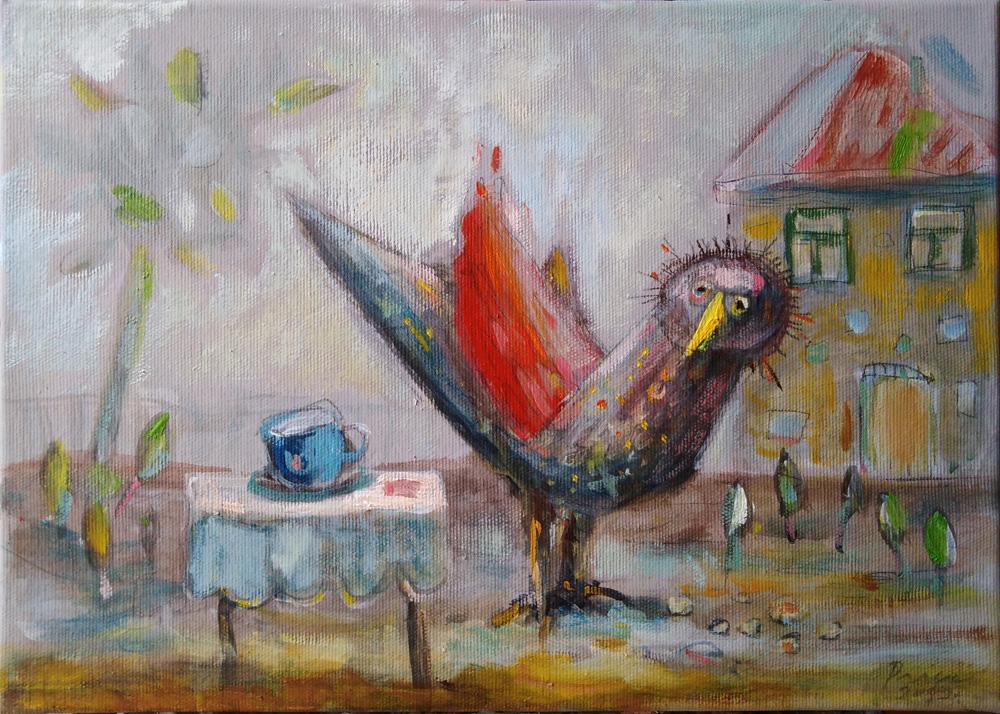 ptica koja krade ratluk, 35x25 cm, 250€