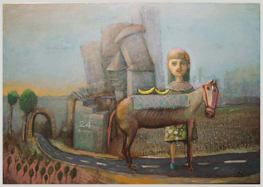 Moj trojanski konj za Tanju, 100x70 cm, ulje na platnu,Prodato