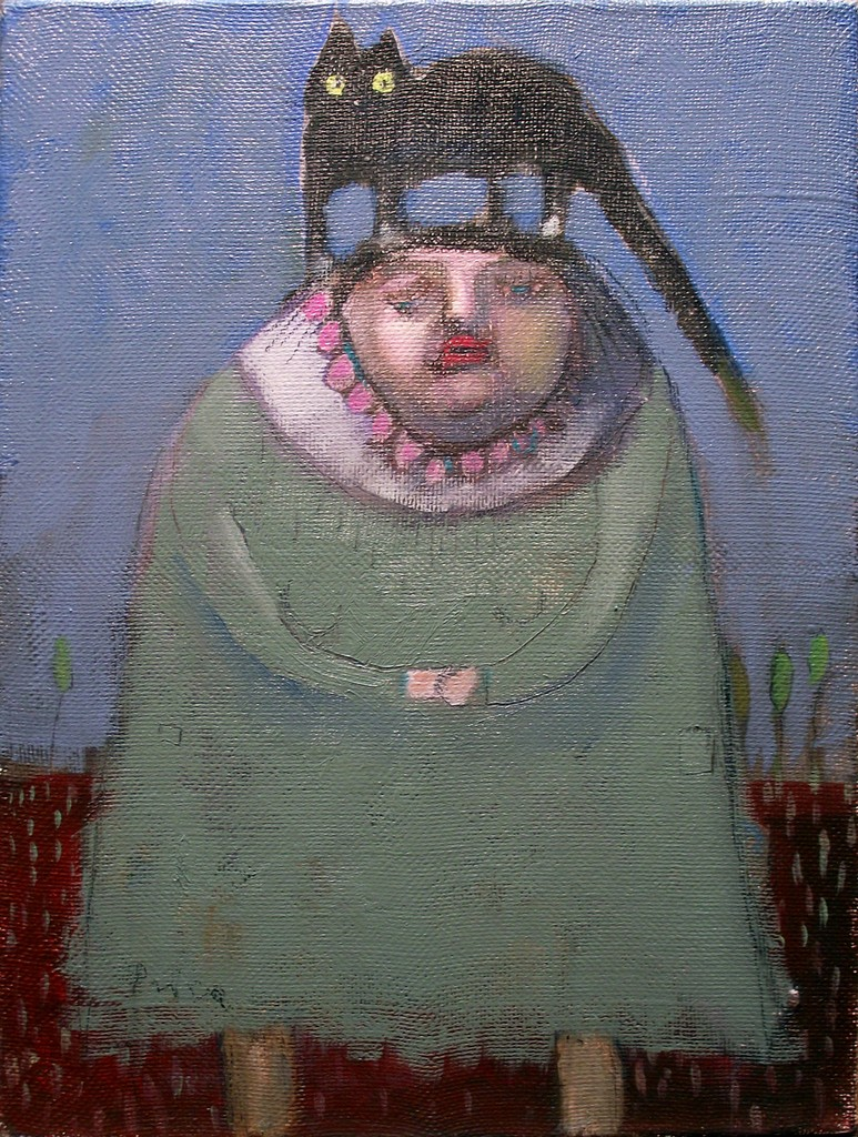 žena koja predugo čeka, 60x45 , ulje na platnu, 450€